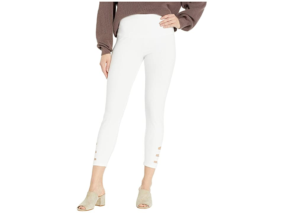Lysse Slashed Side Leggings (White) Women