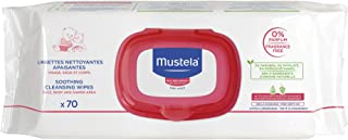 Mustela Soothing Cleansing Wipes, Unscented Baby Wipes for Sensitive Skin, Gentle and Ultra Soft, with Natural Avocado Perseose, (70 Count)