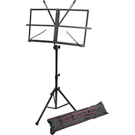 RockJam 譜面台 折り畳み式 050151-BK(アルミ製)
