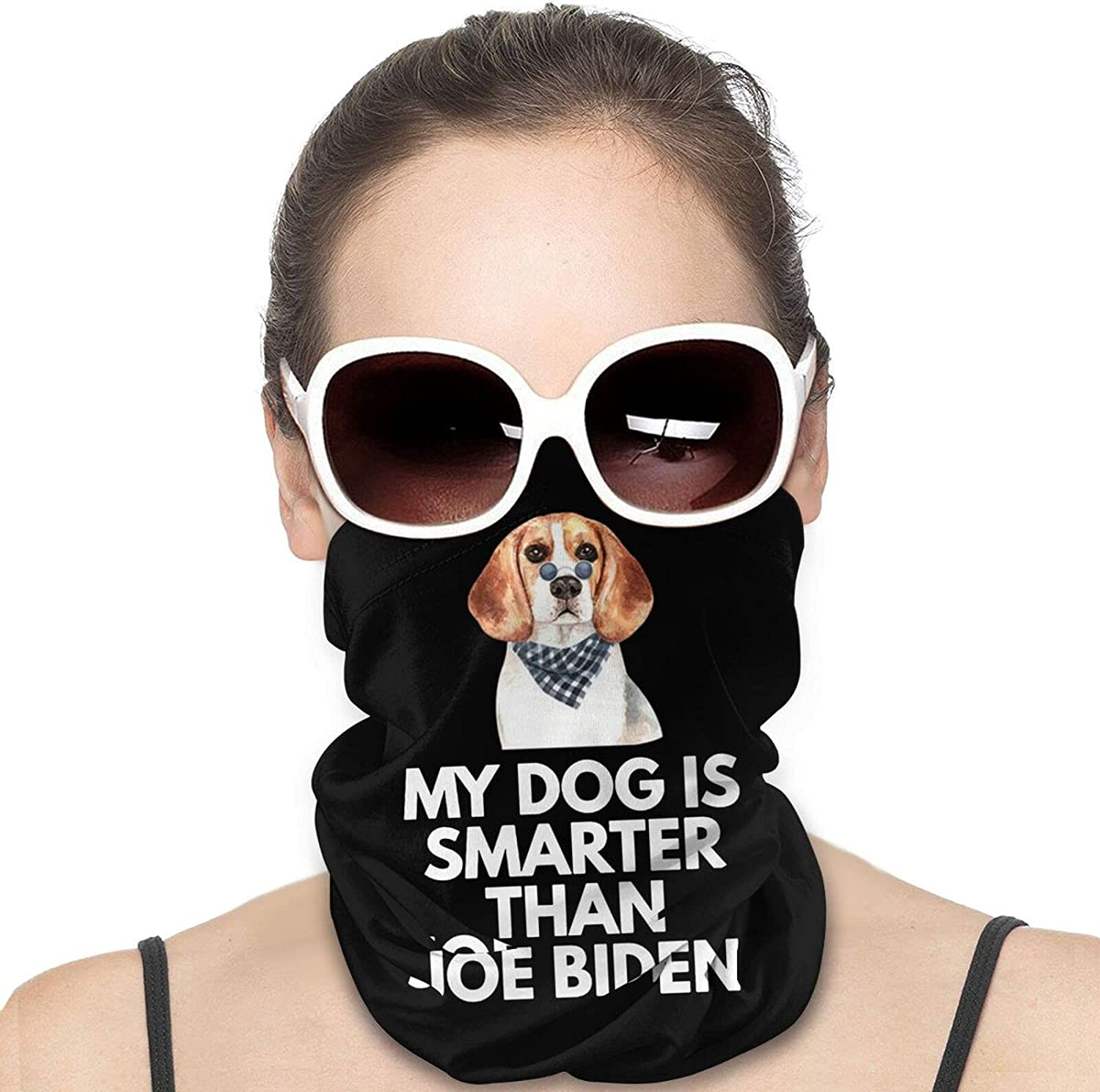 My dogIs Smarter Than Joe Biden Round Neck Gaiter Bandnas Face Cover Uv Protection Prevent bask in Ice Scarf Headbands Perfect for Motorcycle Cycling Running Festival Raves Outdoors