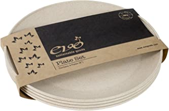 """EVO Sustainable Goods 8"""" Plate, Set of Four, White"""