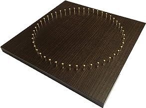 糸かけ曼荼羅の制作用48ピン板(20cm角・ダークブラウン木目)ピン打ち板 糸かけアート マンダラアート