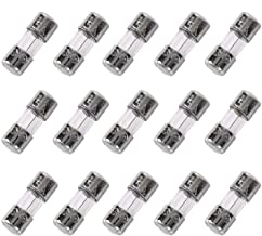 HSTECH 15 Pack F2.5AL 125V Fast-Blow Fuse 0.14 x 0.39 inch / 3.6 x 10 mm 2.5A 2.5amp 125V Glass Fuses Widely Used for Elec...