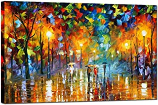 a walk in the rain painting