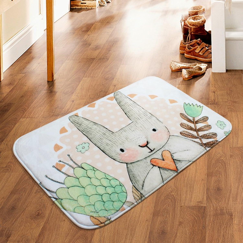 LJ&XJ Anti-Slip doormats,Cartoon Printing Area Rugs Cozy Door mat wear-Resistant Carpet for Living Room Bathroom Bedroom Hallway Hall Doorway Door mat Durable-C 20x47inch