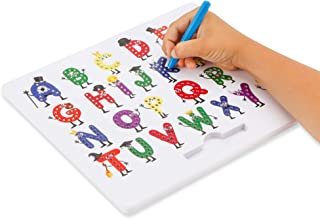 Magnetic Letter Board by California Toys - Writing Board for Kids - Alphabet Drawing Board with Upper Case Letters - User-Friendly Magnetic Stylus with Storage Slot - Educational and Interactive
