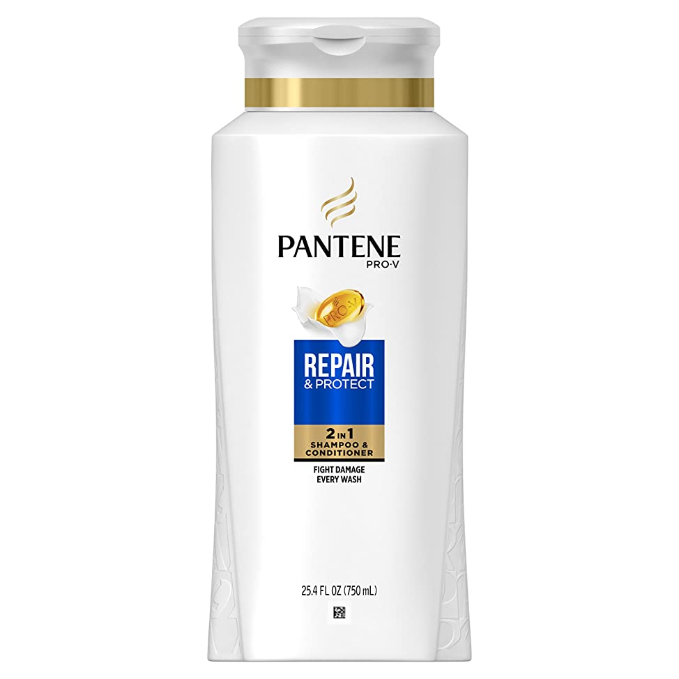 Pantene Pro-V Repair & Protect 2 in 1 Shampoo & Conditioner, 25.4 fl oz (Packaging May Vary)