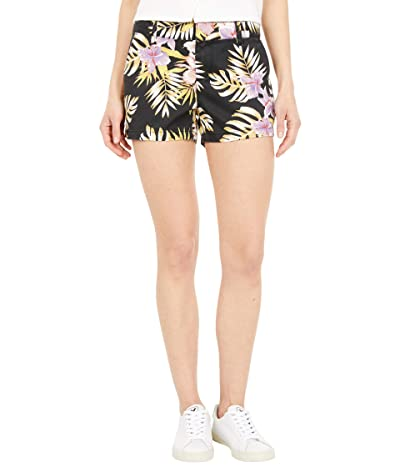Volcom Frochickie Shorts (Black Floral Print) Women