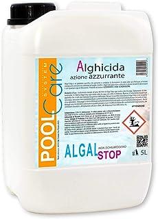 POOL CARE - Algal Stop 5 litros + Vaso dosificador- Antialgas concentrado no espumoso. Ideal para piscinas. Tratamiento de agua algicida - Envío inmediato.