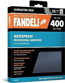 Fandeli 36001 400 Grit Waterproof Sandpaper Sheets, 9