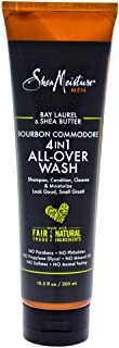 Shea Moisture Bay Laurel & Shea Butter Bourbon Commodore 4-In-1 All-Over-Wash For Unisex, 304.6 ml
