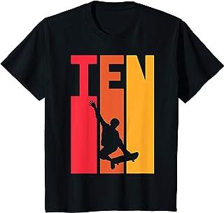 Enfant Cadeau d'anniversaire de 10 ans Skater Skateboarder Garçons T-Shirt