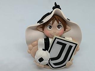 Folletto Gnomo elfo squadra Calcio Juventus idea regalo Handmade personalizzabile con il nome. Si illumina al buio. Made i...