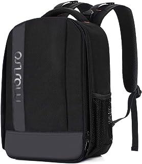 MOSISO Camara Mochila Bolsa de Amortiguadora Repelente al Agua con Inserciones Modulares Personalizado y Trípode Soporte para Cámaras DSLR/SLR/Mirrorless (Compatible Canon Nikon Sony etc.) Negro