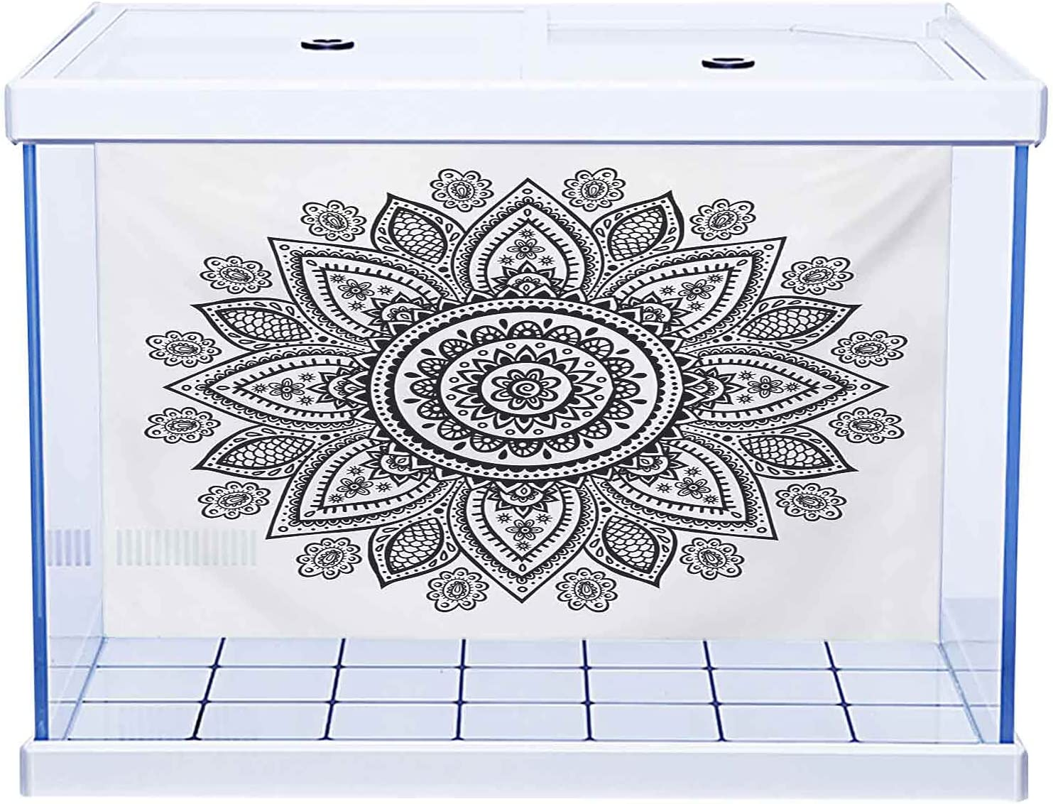 Aquarium Background Decoration ! Super beauty product restock quality top! Henna Floral 55% OFF Far Ornament Ar with