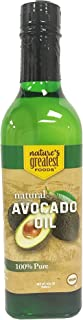 Nature's Greatest Foods, 100% Pure Avocado Oil, High-Heat Cooking, Frying, Baking, Homemade Sauces, Dressings, and Marinades, 16.9 Fl Oz
