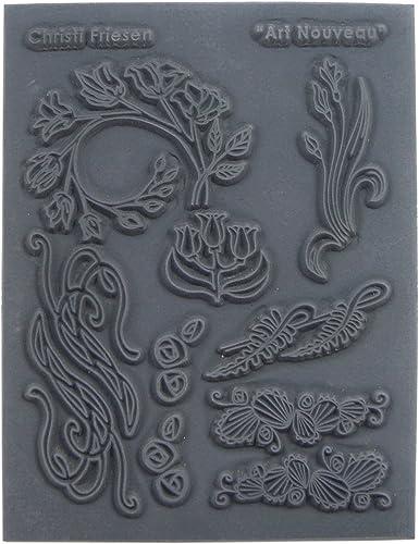 artig schaffen Gummi Christi Friesen (Haut-Rhin) Textur Stempel 10,8  x 14, Art Nouveau