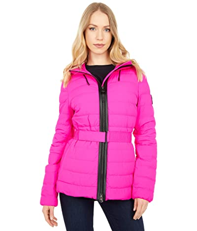 MACKAGE Roselyn Stretch Light Down Puffer Coat (Fuchsia) Women