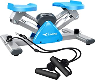 L NOW Mini Stair Stepper for Exercise Equipment Stair Stepper Machine with Resistance Bands and LCD Monitor,Mini Stepper f...