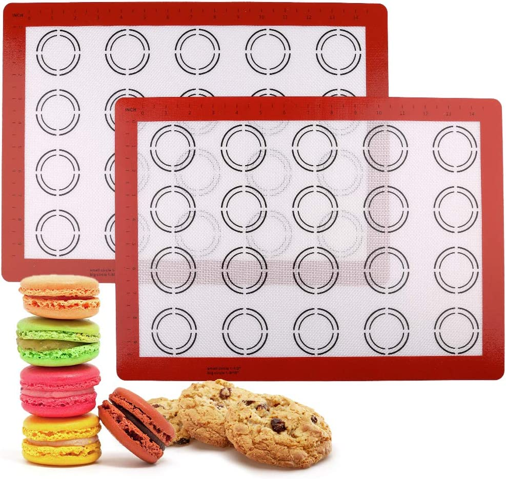 LotFancy Macaron Silicone Baking Mat - Great interest Set 5 Half Sheet 11 New products, world's highest quality popular! 2 of