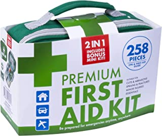 TGA Approved 258pcs First Aid Kit Family Supplies Medical Workplace Travel Bag (1)