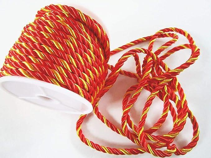 color plateado CaPiSo 15 m x 4 mm Cord/ón giratorio