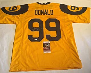 Aaron Donald Autographed Signed Los Angeles Rams Color Rush Jersey - JSA Authentic Memorabilia Witnessed Coa