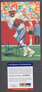 Warren Moon Signed 2006 Goal Line Art Card Autograph Auto AE28854 - PSA/DNA Certified - NFL Autographed Football Cards