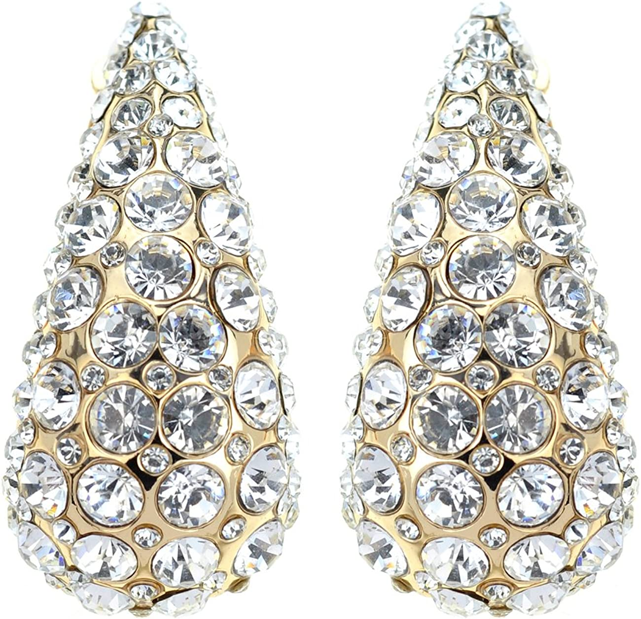 Women's Evening Gala Bridal Prom Wedding Clip On Earrings - Pointed Arch