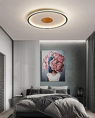 CFKAH Minimalisme LED Plafonnier Noir Design Lampe de Plafond Éclairage Ronde Luminaire Salon Chambre à Coucher Bureau Salle