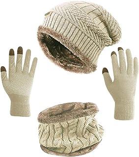 HINDAWI قبعة نسائية مترهلة قبعة شتوية قبعة منسوجة للتزلج على الجليد قبعة الجمجمة