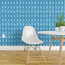 Spoonflower Peel and Stick Removable Wallpaper, Pool Swim Team Water Lanes Sport Competition Summer Fitness Swimming Print, Self-Adhesive Wallpaper 24in x 108in Roll