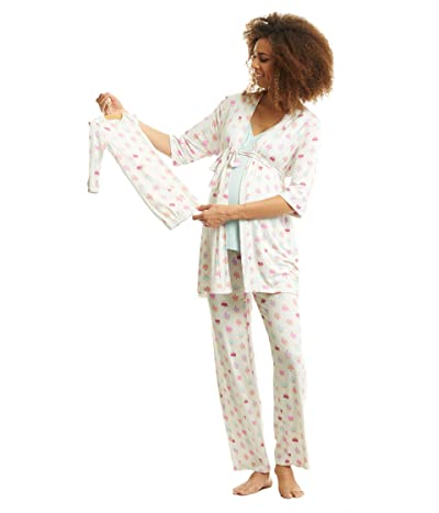 Everly Grey Analise Maternity/Nursing Mommy Me Five-Piece PJ Set (Cupcakes) Women