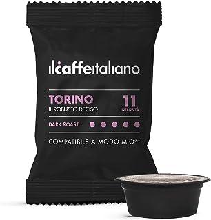 FRHOME - 100 Capsules de café compatibles Lavazza A modo mio - Café Mélange Torino intensité 11 - Il Caffè Italiano