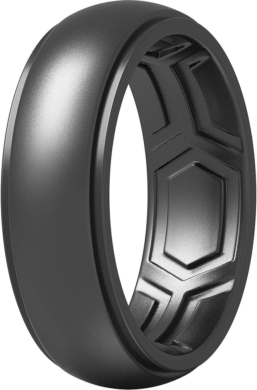 ThunderFit Branded Las Vegas Mall goods Silicone Rings for Men 7 1 4 Ring -