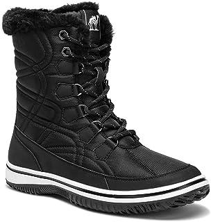 CAMEL Women's Winter Boots Thermal Snow Outdoor Mid Calf Boot Waterproof Rain Booties with Warm Fur