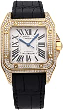 Cartier Santos Mechanical (Automatic) Silver Dial Womens Watch WM502051 (Certified Pre-Owned)