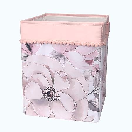 Lambs & Ivy Signature Botanical Baby Storage/Hamper - Pink, Floral