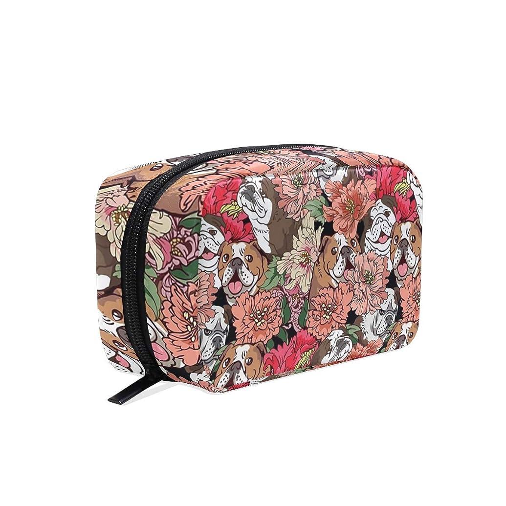 太陽教科書アパルブルドッグ 花柄 化粧ポーチ メイクポーチ 機能的 大容量 化粧品収納 小物入れ 普段使い 出張 旅行 メイク ブラシ バッグ 化粧バッグ