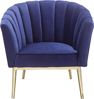 Superb Amazon Com Altrobene Curved Tufted Accent Chair Velvet Onthecornerstone Fun Painted Chair Ideas Images Onthecornerstoneorg