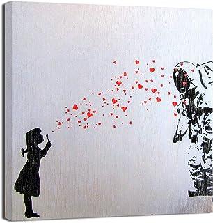 Quadri Moderni Banksy cm 100x70 Quadro Stampa su tela Bansky parliament scimmie