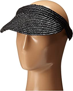 San Diego Hat Company WSV0004 4 Inch Brim Straw Slip-On Visor