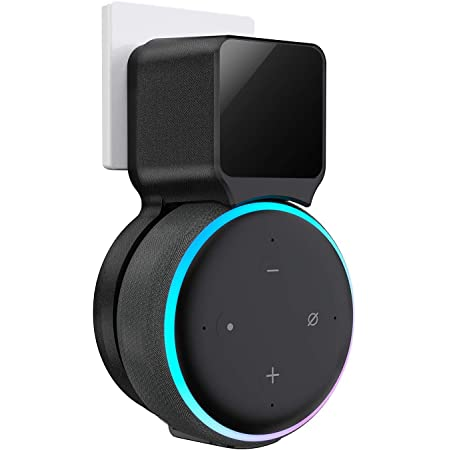 Echo Dot Wall Mount Holder, Echo Dot Mount 3rd Generation Space-Saving Accessories for Dot (3rd Gen) Smart Speakers, Clever Echo Dot Accessories with Built-in Cable Management Hide Messy Wires