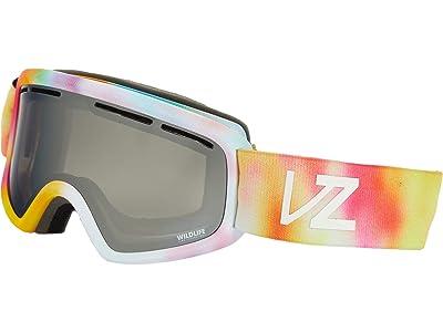 VonZipper Trike Goggle (Little Fluffy Clouds Satin/Wild Silver Chrome Lense) Goggles