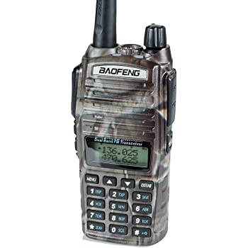 BaoFeng UV-82HP (CAMO) High Power Dual Band Radio: 136-174mhz (VHF) 400-520mhz (UHF) Amateur (Ham) Portable Two-Way