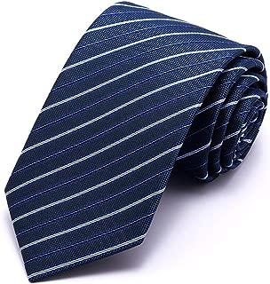 Men's Professional Tie/Tie Gentleman Classic Conventional/Standard Leisure and Business Tie 148 × 7cm Men's Gift CQQO (Color : E)