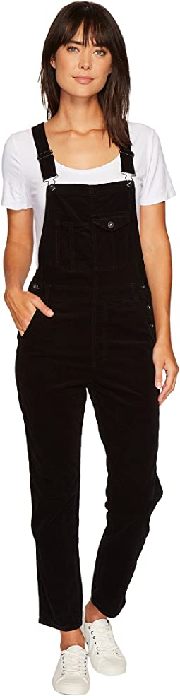 The Leah Overalls in Super Black