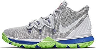 Kids' Grade School Kyrie 5 Basketball Shoes (6, Grey/Lime)