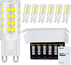 DiCUNO G9 LED Ceramic Bulb 4W 400LM Daylight White 6000K 220-240V Energy Saving Lamp Chandelier Non-dimmable 6Pcs