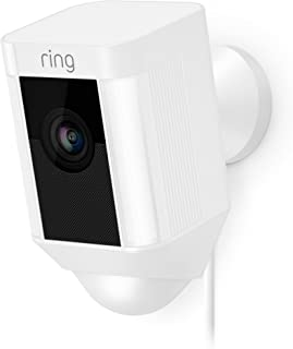 Ring Spotlight Cam Wired: Plugged-in HD security camera with built-in spotlights, two-way talk and a siren alarm, White